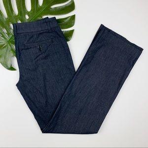 Loft Chambray Pants Trousers Dressy Wide Leg 0